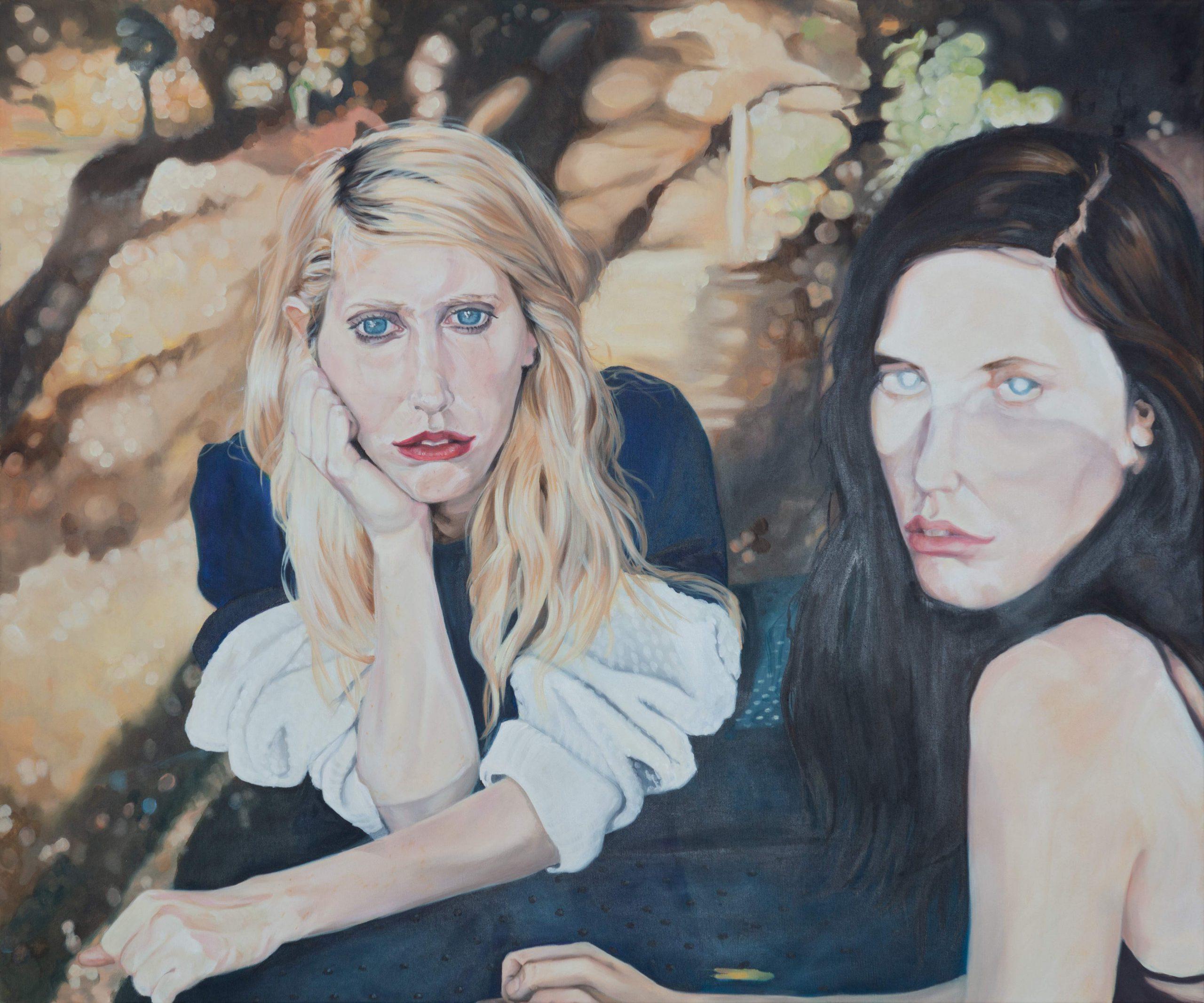 Zwei Frauen im Park