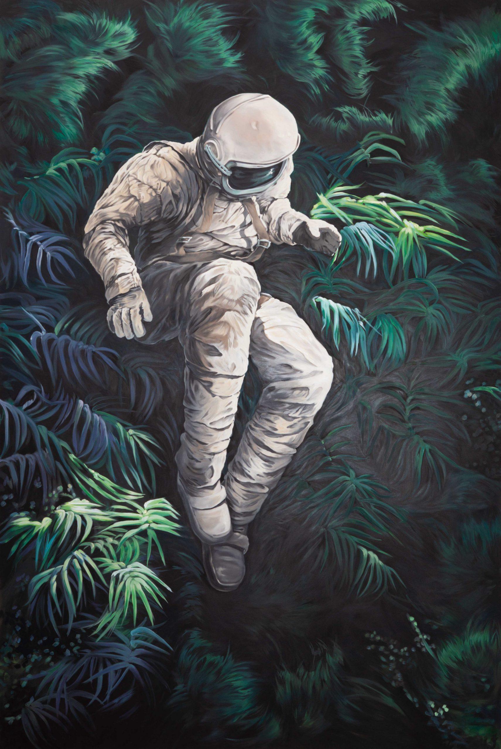 Astronaut III im Dschungel