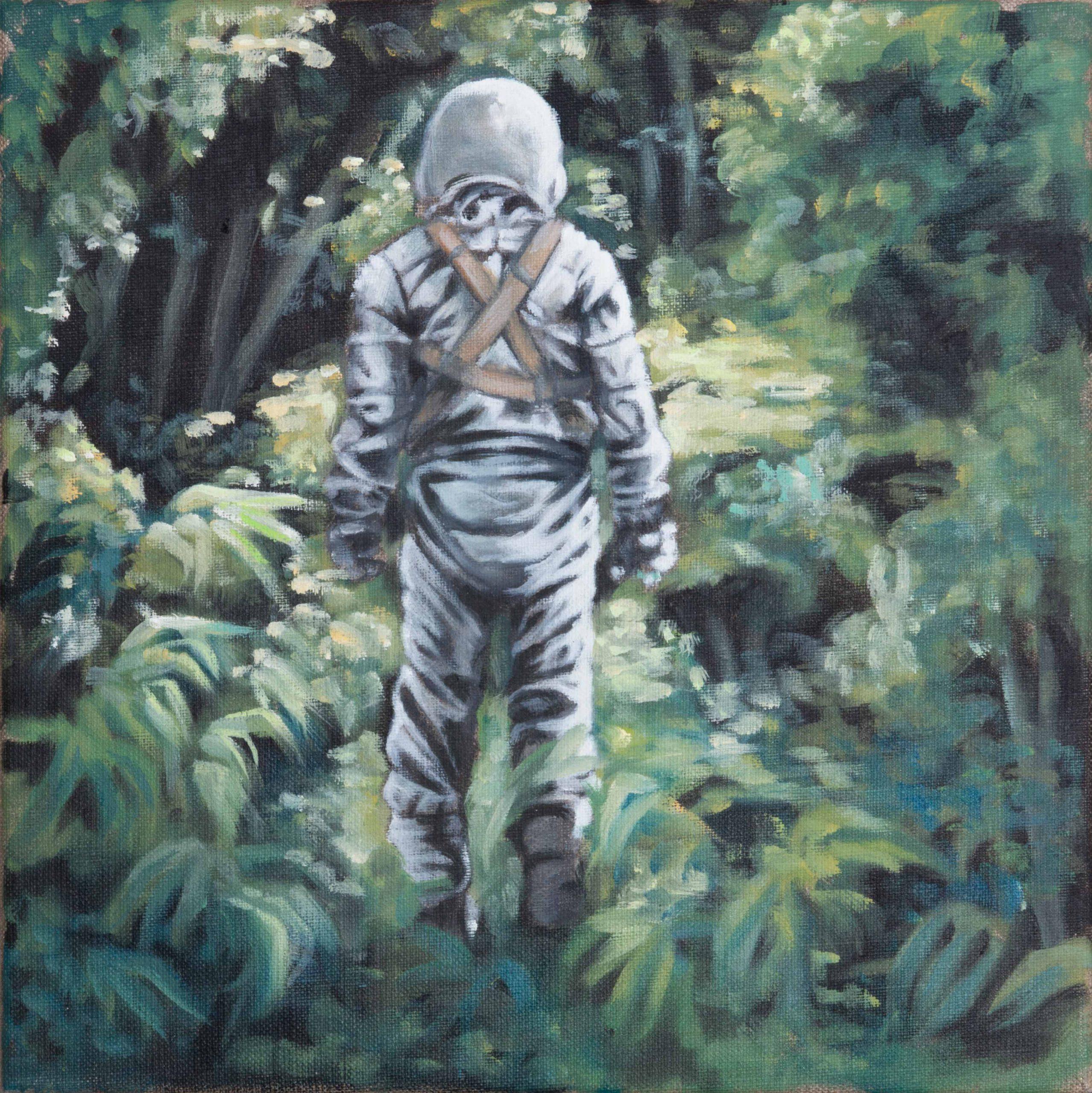 Astronaut laufend