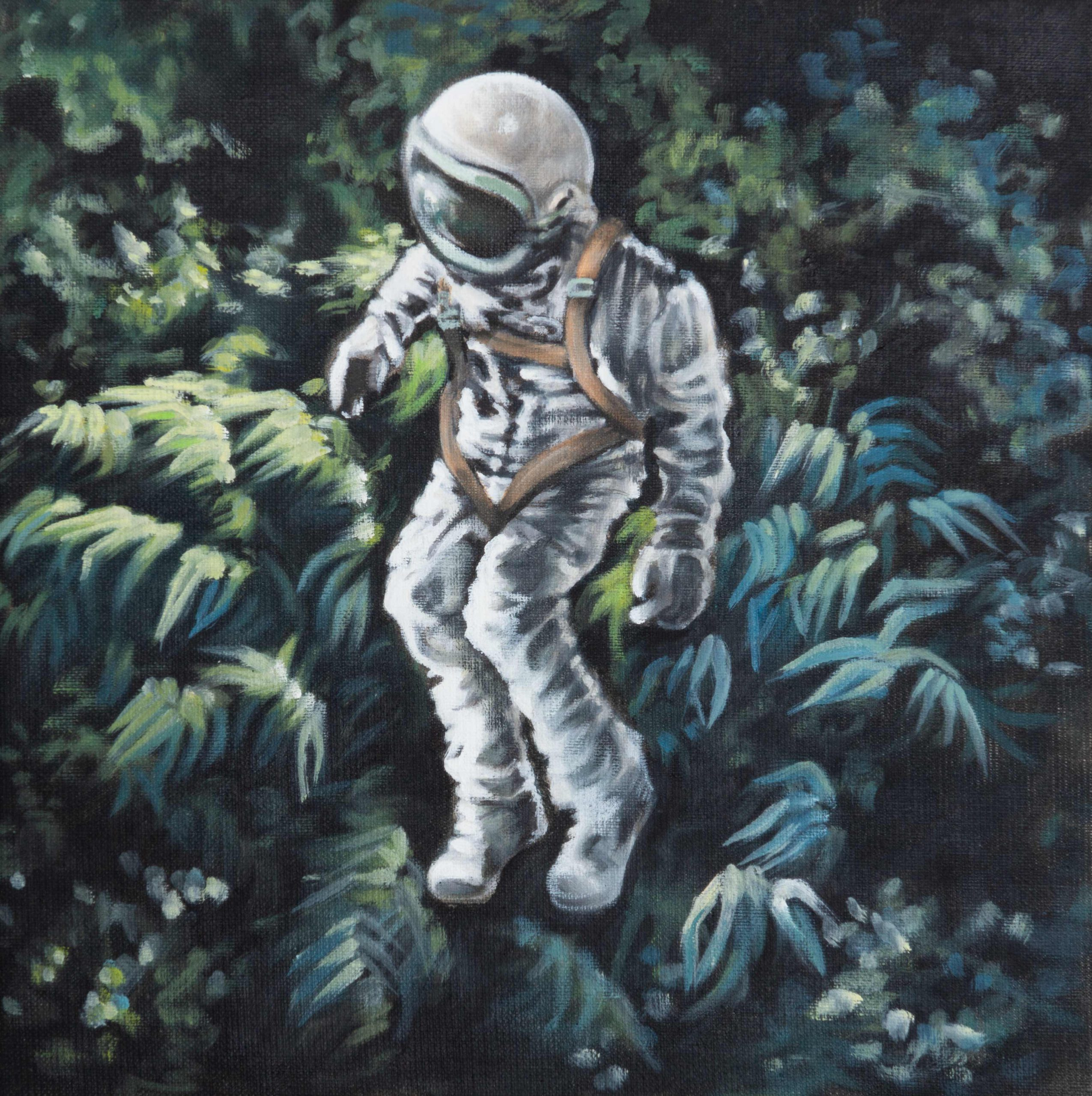 Astronaut schwebend