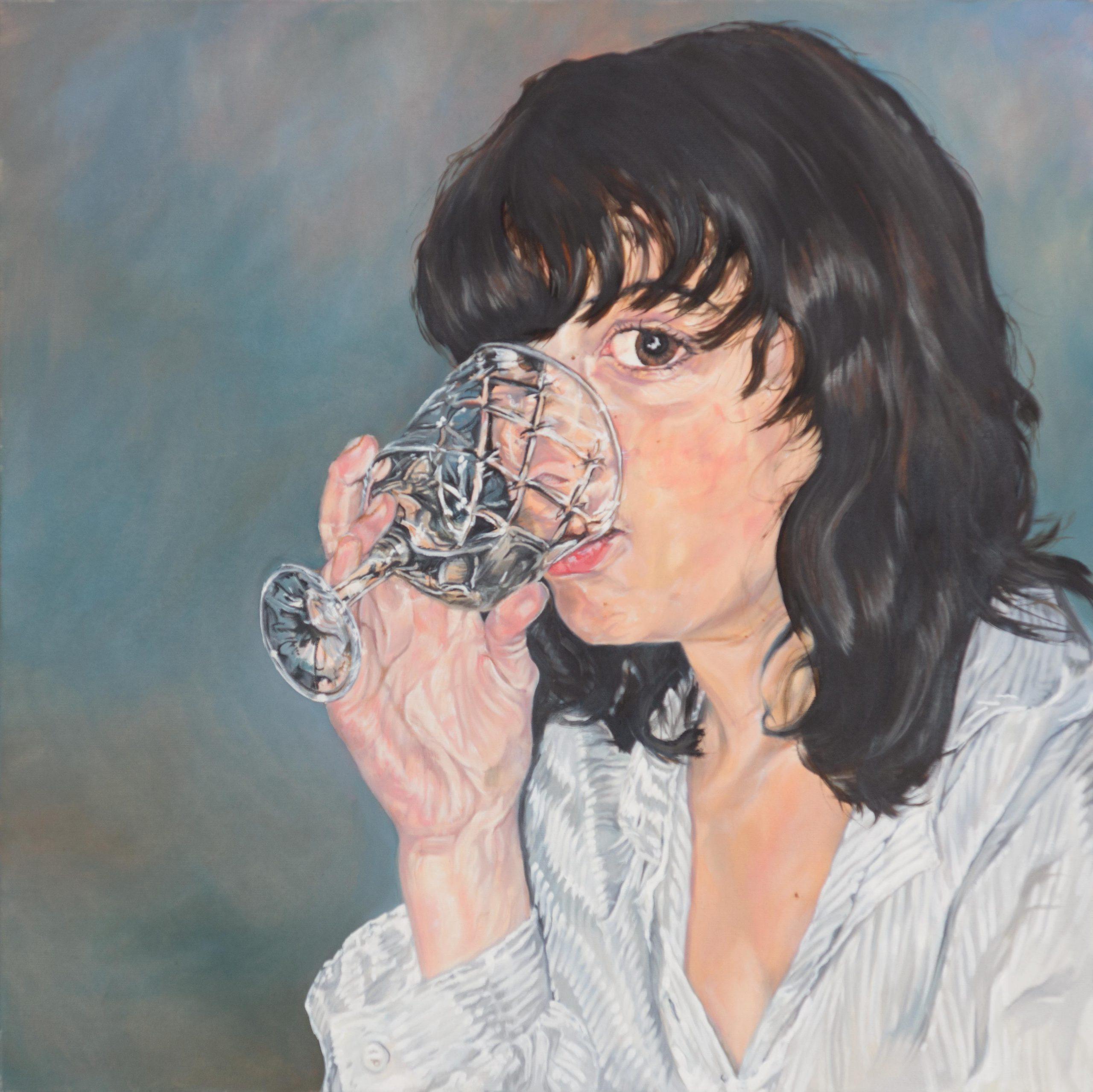 Rafaela mit Glas