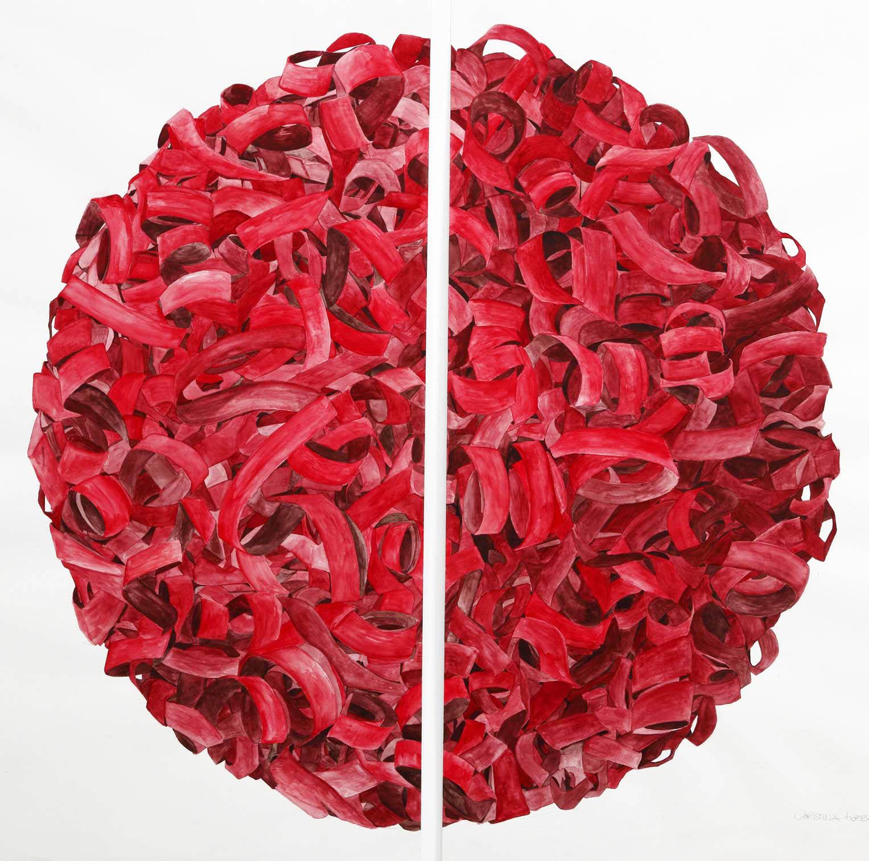 Papierbänder rot